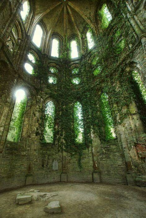 Cathedrals Abandoned and Sleeping beauty on Pinterest