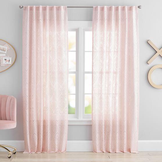 The Emily Meritt Eyelet Curtain Panel In 2020 Rose Gold