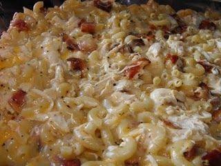 Chicken Bacon Noodle Casserole.