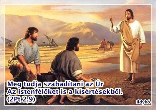 """""""...meg tudja szabadítani az Úr a kegyeseket a kísértésből, a gonoszokat pedig büntetések között megtartani az ítélet napjára"""" (2Péter 2:9)."""