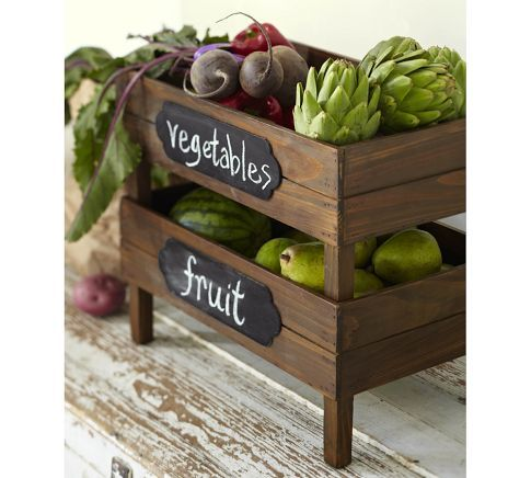 Stackable Fruit Crates, Set of 2 from POTTERY BARN (for kitchen - over fridge?)