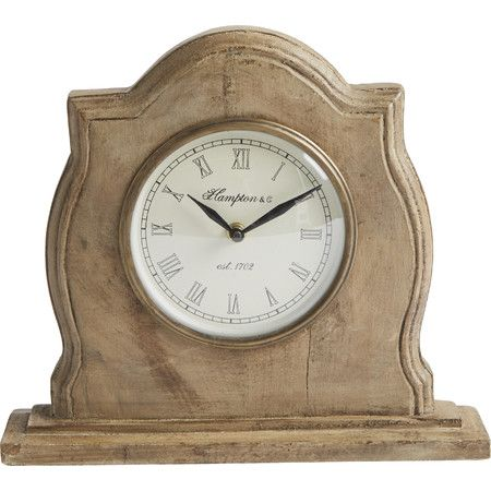 Featuring a weathered finish and traditional design, this charming table clock adds vintaged appeal to your mantel or desk.  Product...