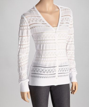 Trisha Tyler Off-White Lace Cardigan | Lace, Lace cardigan and ...