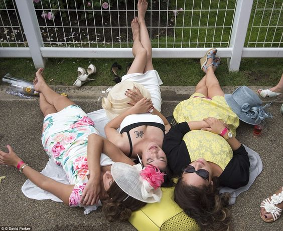 It appears that the day got a bit much for these ladies who stopped to take a nap in the s...: