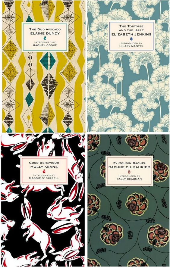 bookcovers with covers from retro textiles.