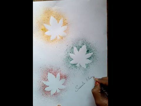 How To Do A Spray Art Work With A Tooth Brush For Kides Youtube Brushing Teeth Spray Print Maple Leaf Tattoo