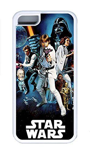 5C Case, iPhone 5C Case Cover, Custom Design Soft Rubber TPU White Cases Star Wars Movie Shoockproof Protective Case Cover for New Apple iPhone 5C ** See this awesome image @ http://www.amazon.com/gp/product/B013Q75Q3E/?tag=superheroes025-20&kl=160816055605