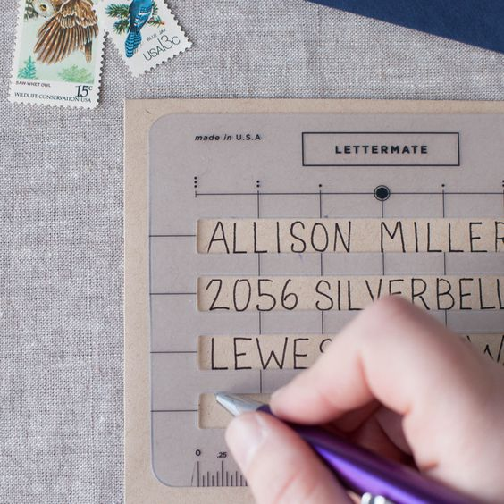 The Lettermate - Envelope Addressing Template DIY your wedding - pay template