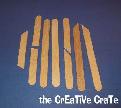 The creative crate popsicle stick sled ornament for Creative crates
