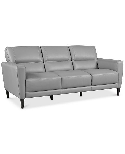 Furniture Tosella 80 Leather Sofa Created For Macy S Reviews Furniture Macy S Leather Sofa Furniture Tufted Leather Sofa