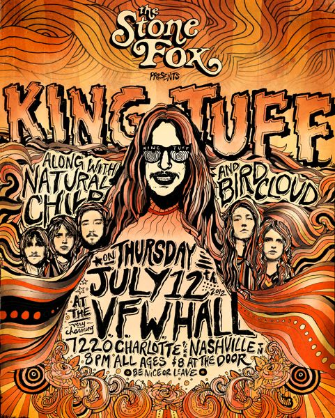 GigPosters.com - King Tuff - Natural Child - Birdcloud: Poster Art, Tuff Natural, Concert Posters, Design Posters