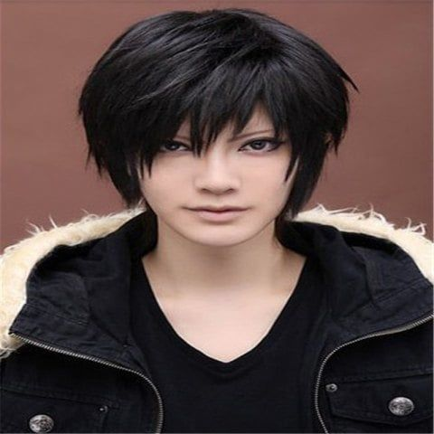Cosplay Black Male Hairstyle Wig Wig Hairstyles Short Straight Hair
