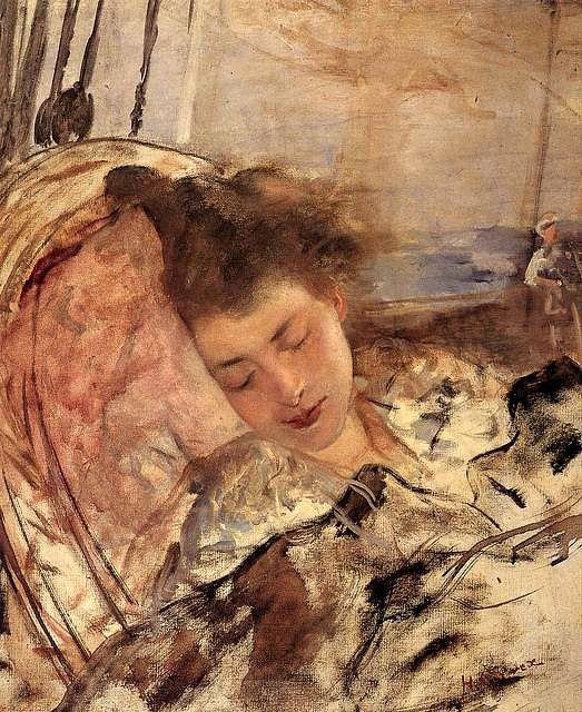 Henri Gervex ~ Mme Gervex endomrmie, vers 1898