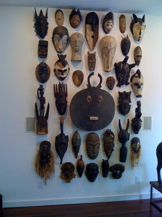 Wall Decoration With Masks : African masks and africans on