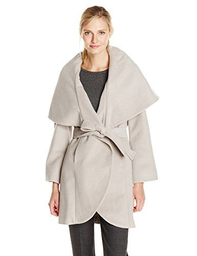 T Tahari Women's Marla Wool Wrap Coat Dove - http://www