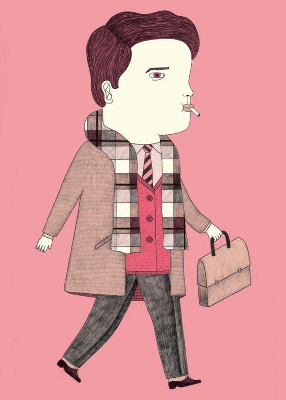 Rosa.  Ana Albero - Ilustration