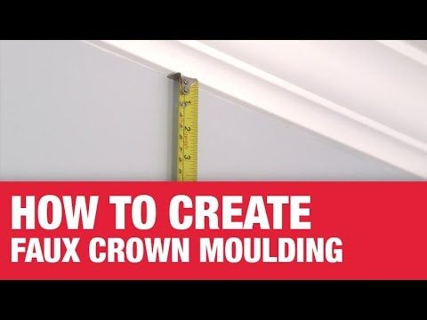 Shop How To Create Faux Crown Molding Online At Acehardware Com And Get Free Store Pickup At Your Neighbo In 2020 Faux Crown Moldings Foam Crown Molding Crown Molding