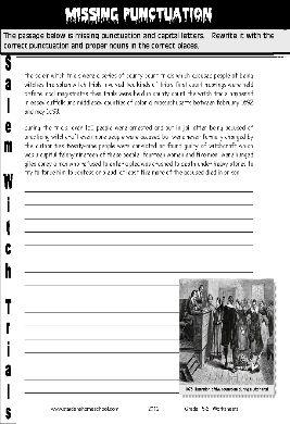 Grade 6 Halloween - Missing Punctuation, Salem Witch Trials ...