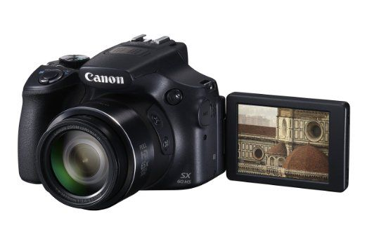 """Canon PowerShot SX60 HS - Cámara compacta de 16.8 Mp (pantalla de 3"""", zoom óptico 65x, estabilizador, vídeo Full HD), negro: Canon: Amazon.es: Electrónica"""