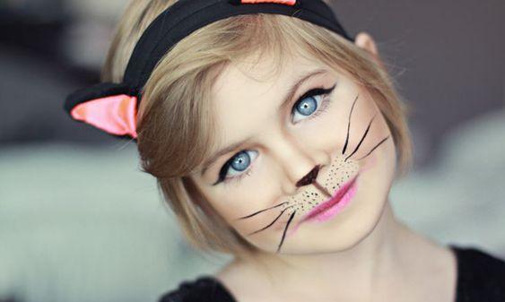Halloween Costumes for Kids - Cat Makeup Halloween Pinterest - halloween costume ideas 2016 kids