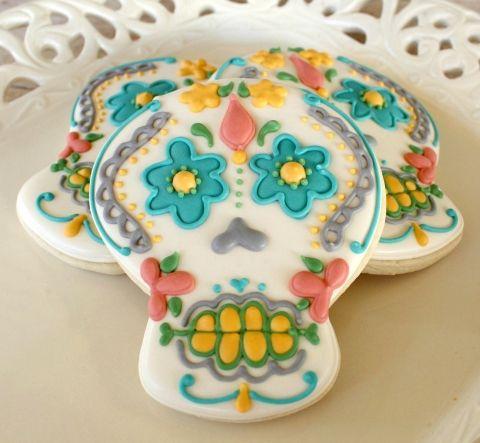 Pastel Calavera Cookies