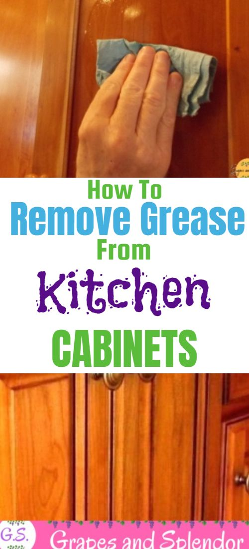 How To Remove Grease From Your Kitchen Cabinets Household Cleaning Tips Cleaning Hacks Homemade Cleaning Solutions