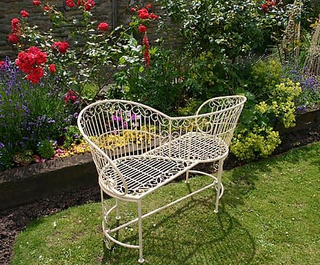 Loveseat-Bank Old Rectory, creme, B 106 cm