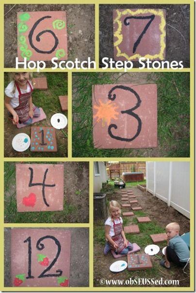 Step Stone Hop Scotch, let the kids decorate them