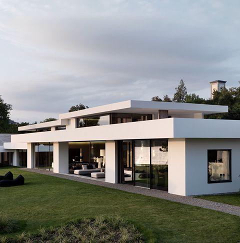 Architektur Haus Das Fenster Zum See Stilpark Architektur Haus In 2020 Flat Roof House Futuristic Home House Designs Exterior