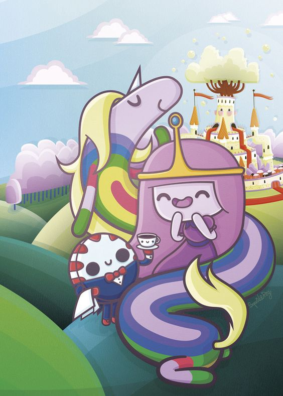 Kawaii Adventure Time by SquidandPig - Bubblegum Princess, Lady Rainicorn and Peppermint Butler www.squidandpig.com