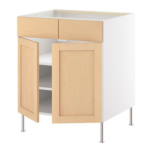 IKEA - AKURUM, Base cb f cook top w 2 drs/2 fascia, birch effect, Orsa birch, 30