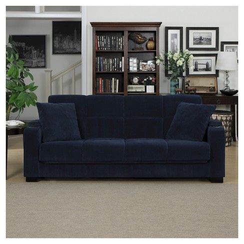 Susan Velvet Convert A Couch Storage Arm Futon Sofa Sleeper