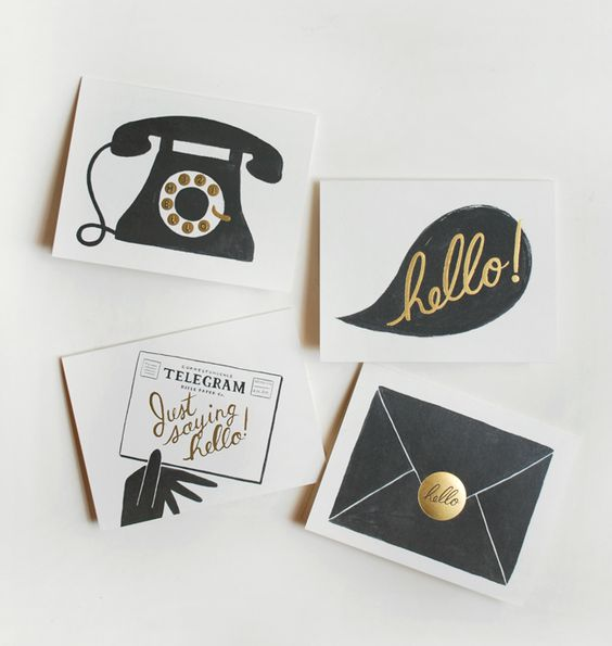 Greeting cards by Rifle Paper Co. http://riflemade.squarespace.com/ #stationery #paper #design #typography
