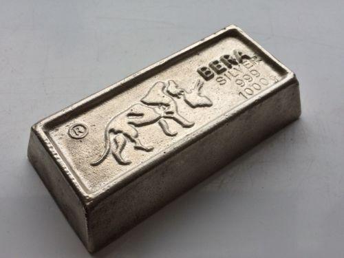 Extremely Rare Vintage Bera Bull 1 Kilo 900 Silver Bar Silver Bars Silver Bar