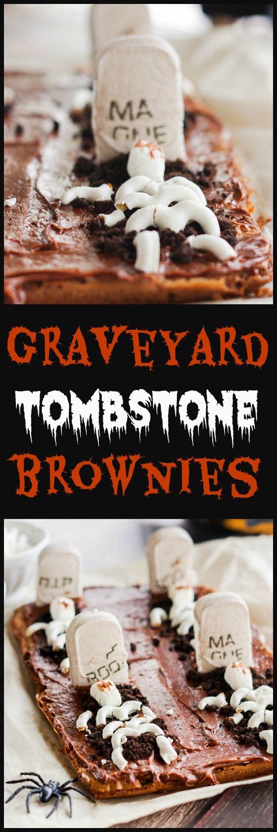 Graveyard Tombstone Brownies | Graveyards, Brownies and A Box