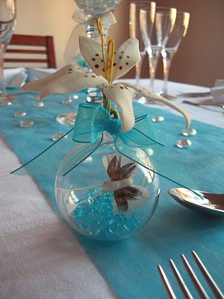 d coration de table th me papillon bleu 17 table deco communion pinterest papillons. Black Bedroom Furniture Sets. Home Design Ideas