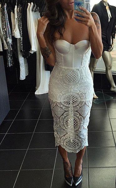 Endless Love Lace Bustier Dress - White - Fashion - Pinterest ...