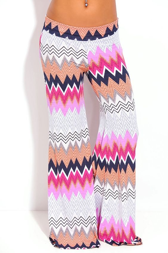PURPLE MULTI ZIG ZAG PRINTED DESIGN WIDE LEG PALAZZO PANTS,$24.99  #pants #leggings #bottoms #womenpants #fashion #womenfashion #sexywomen #sexygirls #cutelife #sexypants #sexygirls #sexywomen #welovefashion #fashionworld #worldoffashion #wanderable #fashionstyle #palazzopants  #spring2014 #springfashion2014 #springfashiontrends #springfashion