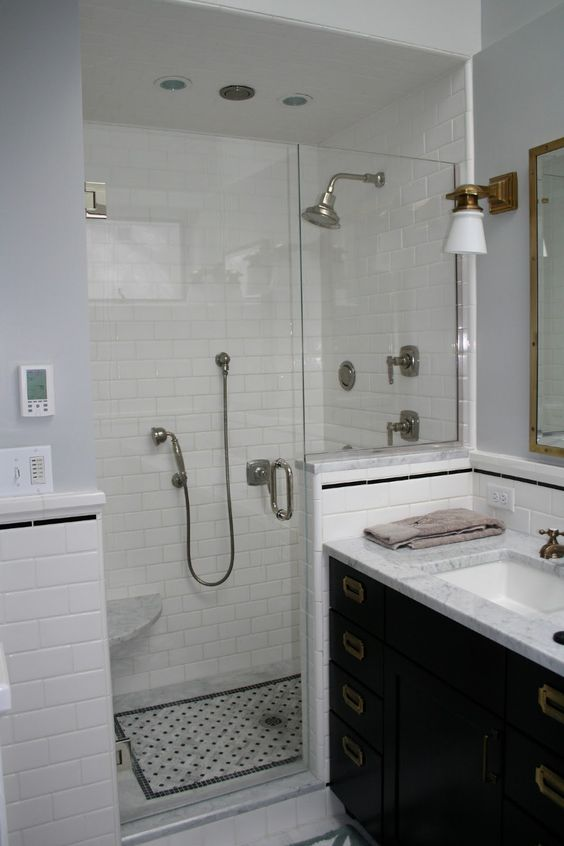 Tile designs for showers black and white bing images for Black and white bathroom ideas pinterest