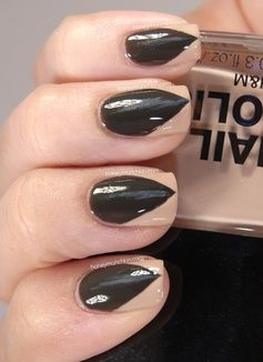 Dress in all black, get some fuzzy ears, and paint your nails this way to make a quick and easy DIY werewolf costume.