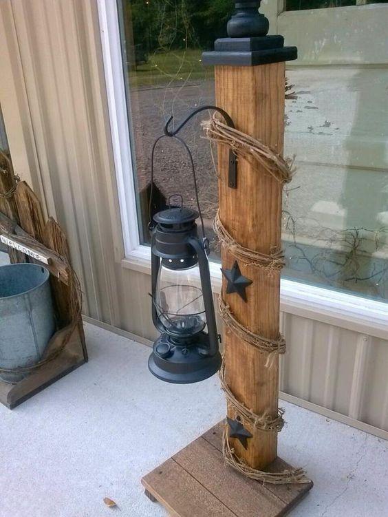 Ideenreiche Osterdekoration Laterne Ständer aus Holz