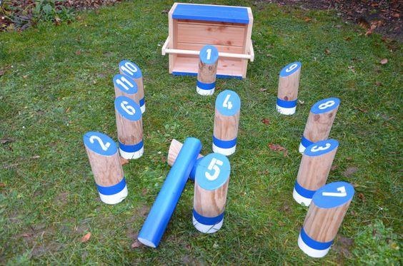 Holzwurfspiel  ( Schalke ) von  Outdoorspieler auf DaWanda.com