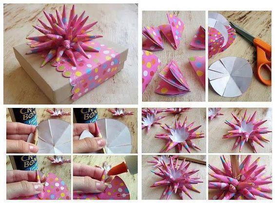 ouriço de papel