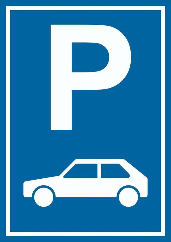 Parkplatzschild für Autos #auto #kfz #parken #parkplatz # ...