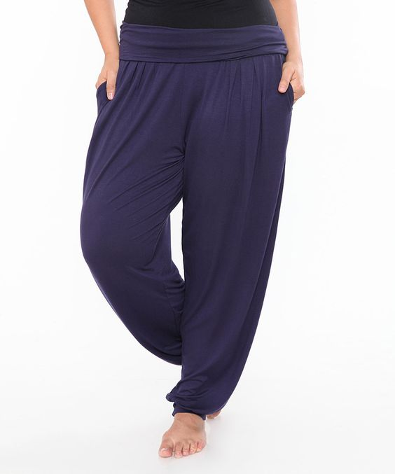 Love this Navy Harem Pants - Plus by White Mark on #zulily! #zulilyfinds
