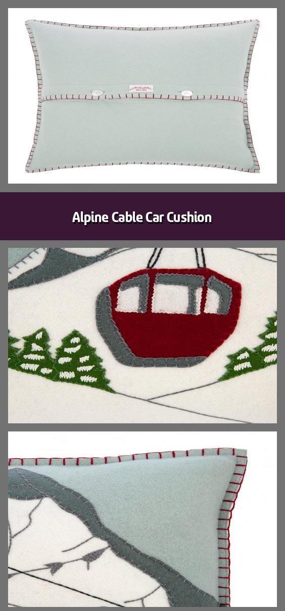 2020 Christmas Cable Car Alpine Cable Car Cushion   Christmas cushion Material: wool felt