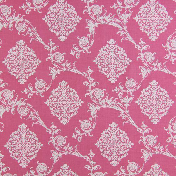 French Ornament 4 - pink - Barock - Dekostoffe Ornamente - Weitere Baumwollstoffe - French Cottage - stoffe.de
