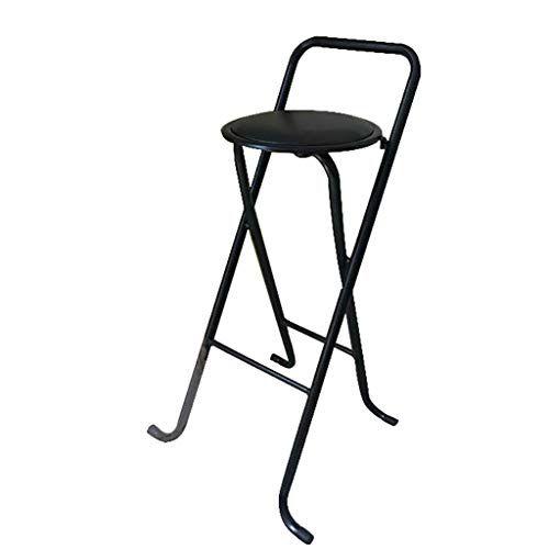 Lbs Black Padded Folding High Chair Breakfast Kitchen Bar Stool