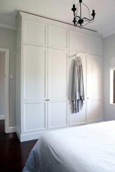Built In Wardrobe Next To Door Frame Leaving Space For Light Switch Build A Closet Bedroom Wardrobe Wardrobe Doors