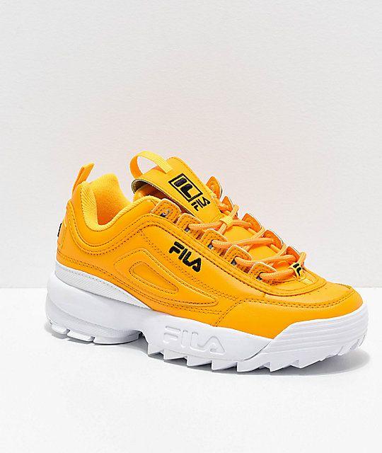 FILA Disruptor II Premium Yellow, White